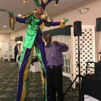 Mardi Gras Stilt Walker